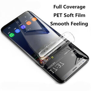 For Samsung Galaxy S21 Note 20 S10+ S9 PET Soft Protective Film Screen Protector