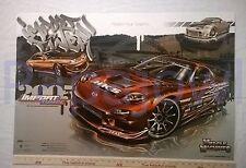 "Muscle Machines Mazda Import Honda Tuner Drifting Poster Print Art 24"" x 36"""
