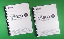 LASER 8.5X11 Nikon D5600 Camera 424 Page Reference Owners Manual Guide