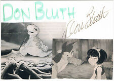 """Don Bluth 1937- genuine autograph signed 4""""x6"""" card US animator director"""