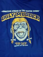 UGLY MUDDER MONKEYING AROUND IN THE WINTER WOODS SIZE L LONG SLEEVE SHIRT EUC!!!