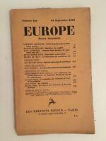 Europa Revista Mensual Las Ediciones Rieder N º 141 15 Septiembre 1934