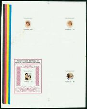 Barbuda 1982 Princess Diana set & SS PROOF SHEET