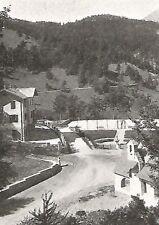 D0025 Fai di Trento - Veduta stazione alpina - Stampa Antica 1930 - Old print