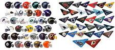 MINI NFL HELMETS AND TABLETOP FOOTBALL FLICKERS, FULL SETS OF 32 TEAMS 64 ITEMS