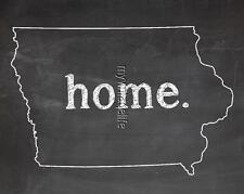 "IOWA HOME STATE PRIDE 2"" x 3"" Fridge MAGNET CHALKBOARD CHALK COUNTRY"