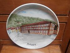 Piatto ceramica Massa Carrara Toscana dipinto a mano handapainted dish ceramic