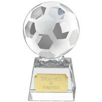 Crystal FOOTBALL Soccer Trophy 5 Sizes FREE ENGRAVING Glass Award
