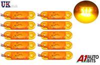 10 X Naranja Ámbar 24v 9 Led Intermitente Lateral Luces Indicadoras de para Man