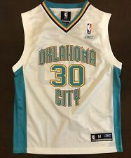 7a9bd6261d9 Rare Vintage Reebok Oklahoma City Hornets David West Basketball Jersey  Youth M