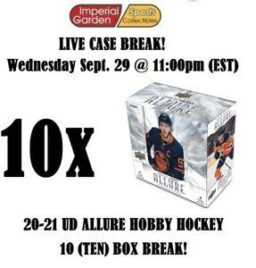 20-21 UD ALLURE HOCKEY 10 (TEN) BOX CASE BREAK #2732 - Minnesota Wild