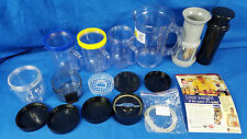 Magic Bullet Mixer Accessories Lot Cups Containers Blender Gaskets Lids Part Pac