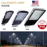 24W 50W 100W LED Outdoor Road Street Light Yard Garden Commercial Flood Light