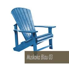 Muskoka Generation Line Stuhl C01 Classic Chair Adirondack - NEU - blau
