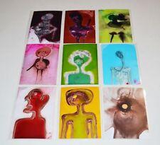 Set of 9 Tonito Original ACEO painting.ATC fine art.Organic realism.Figures.3