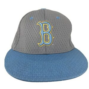 """UCLA Bruins Cap Zephyr Z Fitted Hat Gray """"B"""" Logo Style Adult Size M/L- RARE!"""