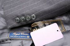 high end TOM JAMES ROYAL CLASSIC Bespoke men's gray pinstripe suit 42R 42 R