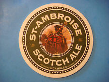 Beer Bar Coaster ~*~ McAuslan Brewing St Ambroise Scotch Ale ~*~ Quebec, Canada