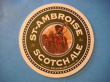 Beer Bar Coaster ~*~ McAuslan Brewing St Ambroise Scotch Ale ~*~ Quebec, Canada
