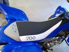 YAMAHA RAPTOR 700 700R   seat cover  wht/gray/ gripper