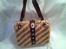 ADORABLE Wicker Box Bag with Leather Straps Mr Jonas Hong Kong