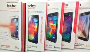 New Original Tech21 Screen Protector Self Heal & Anti Glare for Apple & Samsung