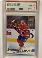 2019/20 UPPER DECK YOUNG GUNS RYAN POEHLING PSA 10 MTL CANADIENS 226 ROOKIE RC