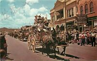Chrome Postcard Arizona I003 Annual Frontier Days Parade Prescott Stagecoach