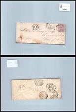 SP00996 - Italia Regno V.E. II 60 cent. Lilla chiaro L21 da Napoli Porto a Franc