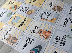 New Baby Milestone Photo Prop Cards (Funny/Alternative Baby Shower Unisex Gift)