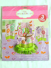 TWEET BABY GIRL 1-  TABLE DECORATING KIT , 3 PC.+CONFETTI-PARTY SUPPLIES