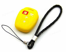 Yellow Silicone Case Cover For Toyota Camry Corolla Avalon Remote Key 4 Buttons