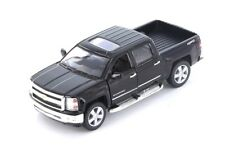 Kinsmart 2014 Chevrolet Silverado LTZ 4x4 Pick Up Truck 1:46 Diecast Car Black