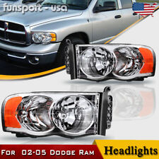 for 2002-2005 Dodge Ram 1500 2500 3500 Chrome Headlights Headlamps Left+Right (Fits: Dodge)