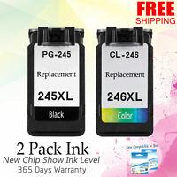 2PK Ink Cartridge CANON PG 245XL CL 246XL Black Color PIXMA IP2820 MG2420 MG2520