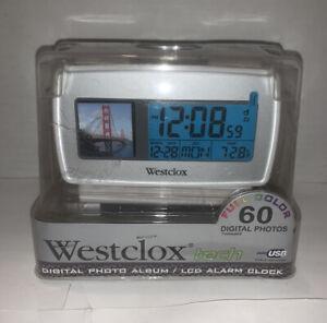 WESTCLOX TECH Digital Full Color PHOTO ALBUM w/ USB Cord and LCD ALARM CLOCK New