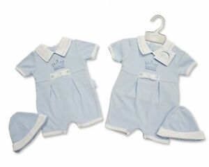 Baby Girls Boys Romper with Hat -Prince/ Princess NB, 0-3 Months gift set