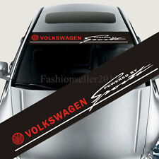 Front Windshield Decal Vinyl Car Stickers for Volkswagen SPORTS Auto Window Deco