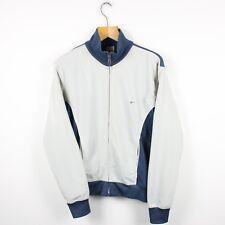 Vintage Nike Gris Bleu Marine Survêtement Haut Veste | Athletic Air Sport | Petit S
