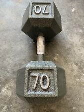 CAP 70 LB Pound Dumbbell Single Iron Hex Weight New Home Gym