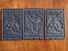 cartes plastique embouties  yu gi yo 1996 pour collectionneur  utilité inconnue