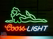 """Coors Light Girl Model Live Nudes Neon Sign 24""""x20"""" From Usa"""