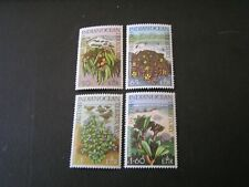 BRITISH INDIAN OCEAN TERRITORY, SCOTT # 78-81(4), COMPLETE SET 1975 PLANTS  MH