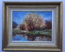 B Jamrich Sunrise Warrandyte Framed Oil Painting