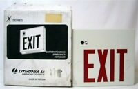 LED Lithonia Lighting Exit Sign X Series Battery Emergency 240647 New Lot of 4