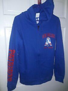 New England Patriots football Pats Hooded Jacket Sweatshirt NFL Hood Shirt - S