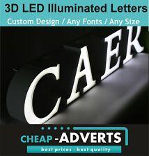 3D LED Shop Sign Letters 70cm - ALL Font Custom Designs/Shapes - Free Artwork