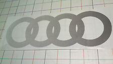 Audi quattro Ringe Urquattro Aufkleber unten Tür schwarz Verlauf, wie 857853443