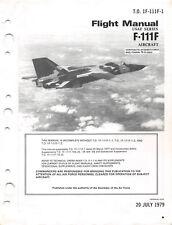 """F-111F """"Aardvark"""" Flight Manual 1969 Air Force Manual Pilot's Handbook -CD"""