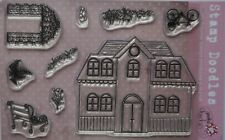 Stamp Doodles Clear Polymer Stamp Set GAZEBO NEIGHBOURS  House garden theme